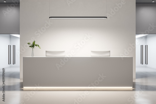 Tableau sur Toile Contemporary office hall with reception