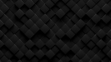 Random Shifted Rotated Black Cube Boxes Block Background Wallpaper