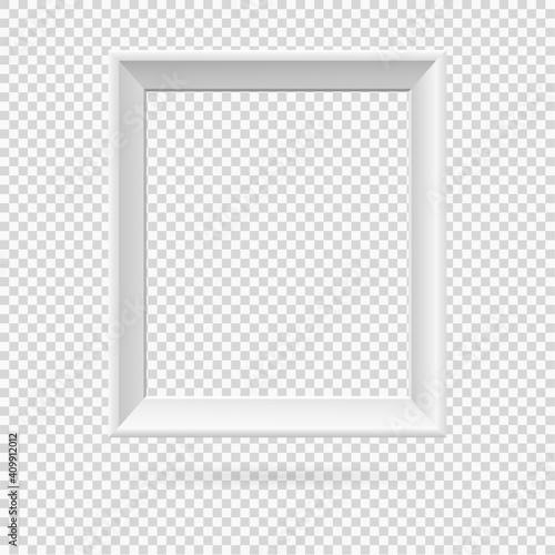 Cuadros en Lienzo Presentation rectangular picture frame design element with shadow on transparent background