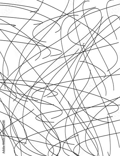 Canvas Print Chaotic Lines, Random Chaotic Lines, Scattered Lines, Random Chaotic Lines Asymm
