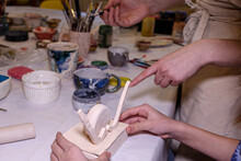 The Children's Class In A Clay Workshop, Creativity