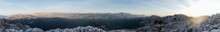 Breathtaking Panorama Of Landscape With Rocky Mountains
