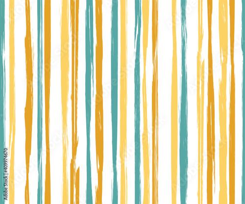 Obraz Painter vertical stripes vector seamless pattern. - fototapety do salonu