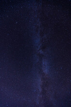 From Below Of Spectacular Scenery Of Night Sky With Glowing Stars In Milky Way