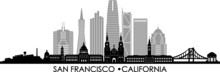 SAN FRANCISCO California SKYLINE City Silhouette