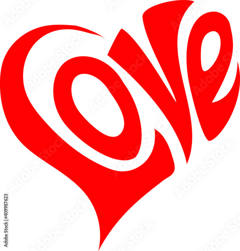 Canvastavla heart with words love