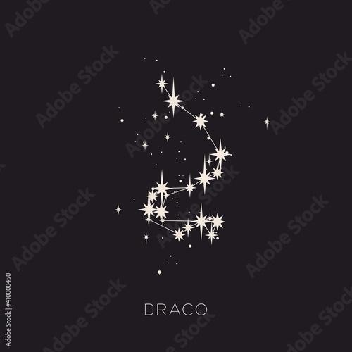 Obraz Star constellation space zodiac draco vector - fototapety do salonu