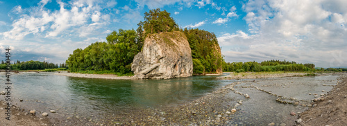 Photo Little Poland, river Bialka gorge sunny afternoon
