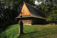 Old Wayside Shrine In Sanok, Poland