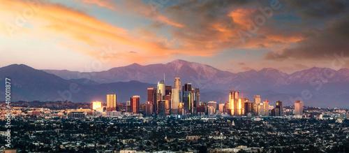 Los Angeles skyline Tapéta, Fotótapéta