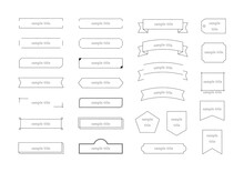 手描きフレーム 細線イラストセット