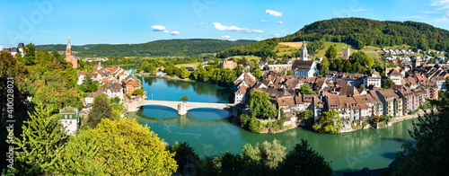 Foto Laufenburg at the Rhine River in Switzerland and Germany