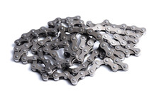Bicycle Roller Chain On White Background
