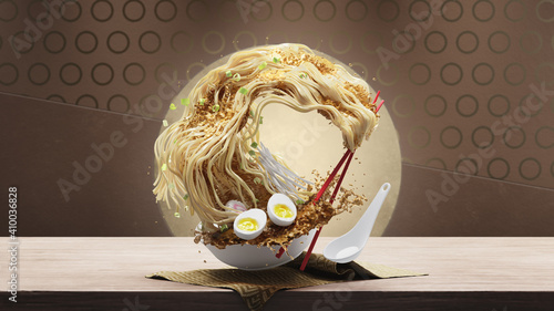 Slika na platnu The Great Wave of Ramen