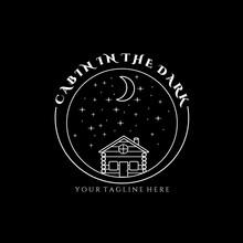 Print Night Cabin Logo Vector Illustration Design Graphic