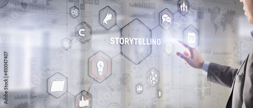 Storytelling social and cultural activity of sharing stories. Wallpaper Mural