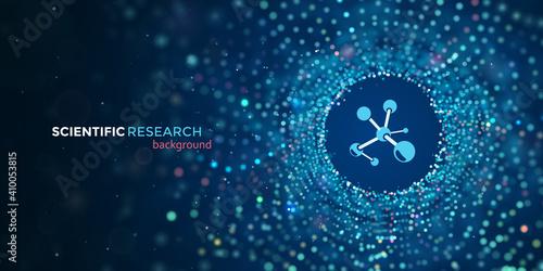Fototapeta Scientific medical research vector web banner
