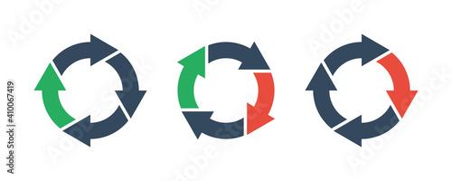 Obraz four round arrows set, vector icon - fototapety do salonu