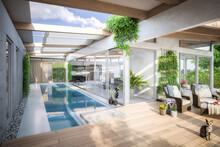 Luxury Residential Villa Terrace Design - 3d Visualization