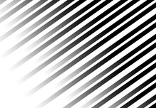 Black And White W Stripes Background. Shades Of Grey. Disappearing To The Edges. Simple Template.