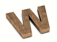 Wood Letter W