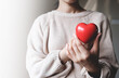 Red hearts with loving and caring adults. Symbol of support that expresses love valentine day and world heart day, heart health concept