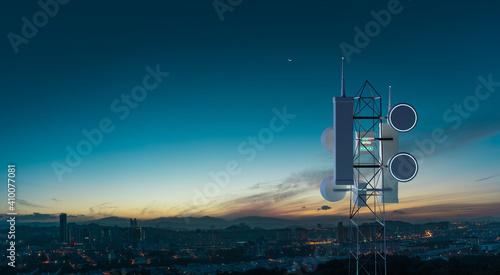 Fotografia Network wireless systems telecommunication tower
