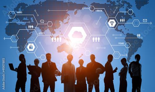 Obraz グローバルビジネス 経営戦略 - fototapety do salonu