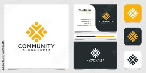 Fotografija Set of community logo design inspiration