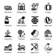 Pack Of Gardening Solid Icons