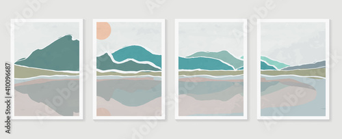 Fototapeta Mountain and landscape wall arts vector