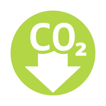 CO2 Reduction Icon. Clipart Image Isolated On White Background.