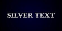 Font Alphabet  Sliver Effect In Vector Format