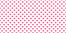 Pink Heart Abstract Pattern Design For Valentine Day On White Background.