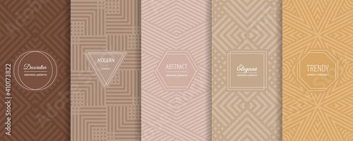 Obraz na płótnie Geometric seamless patterns