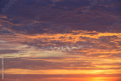 Fototapeta Sunset sky backgroung. Sunset and sunrise, morning, evening, twilight sky. Colorful clouds. Abstract nature background. obraz