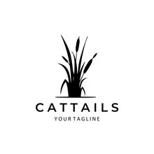 Cattails Nature Logo Vintage Template Symbol Illustration Design