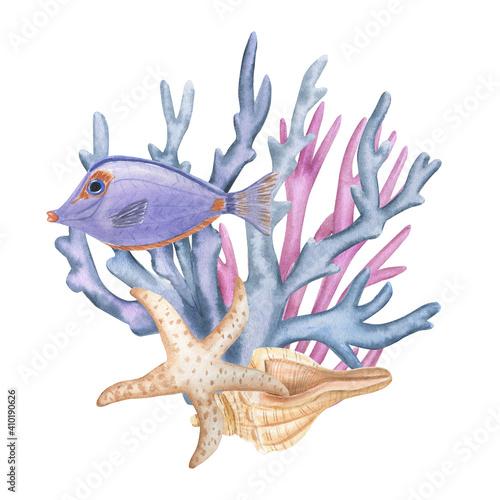 Fotomural Ocean life