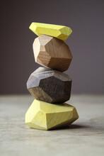 Stack Of Handmade Wooden Blocks