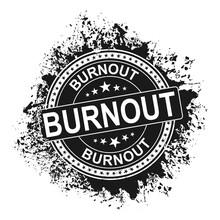 Stamp With Word Burnout Inside, Vector Illustration