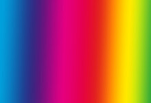 Illuminated Rainbow Gradient With Strong Highlights
