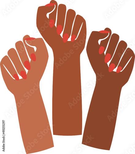 Canvas Print black fist people, brown power, black history month, female pride, black lives m