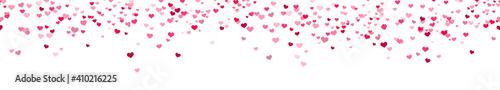 Fotografia seamless confetti hearts background