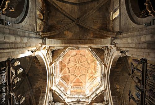 Bóveda del cimborrio Catedral de San Martín en Ourense Orense, Galicia, España