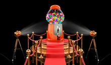 Podium With Gumball Machine, 3D Rendering