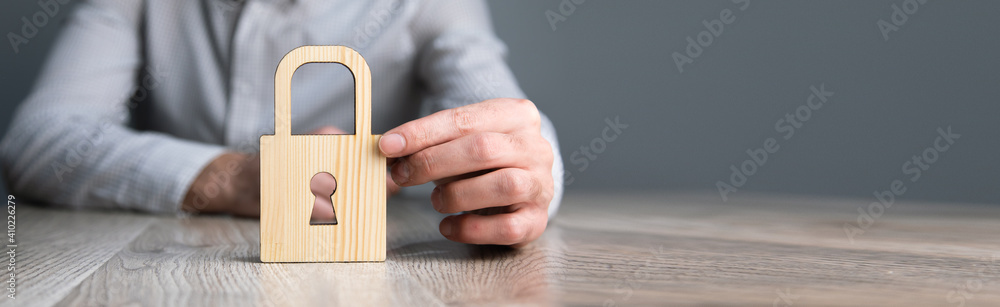 Fototapeta person privacy and security concept