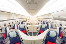 Passenger Seats Business Class Interior Of Salon View Of The Interior Of An Empty Passageway.