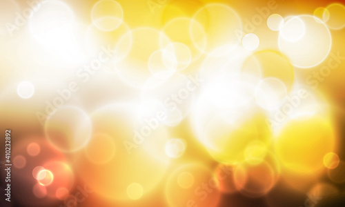 Obraz Yellow and fire soft lights concept in orange gradient contrast. Modern wallpaper design with blur bokeh lights - fototapety do salonu