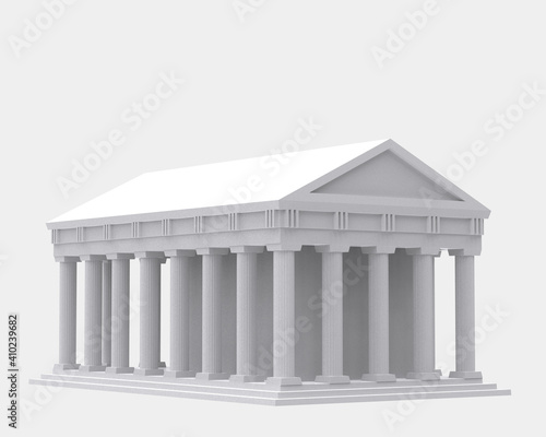 Fotografie, Obraz Greek temple isolated on background