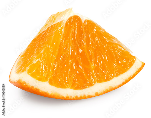 Fotografering cut of orange isolated on white background